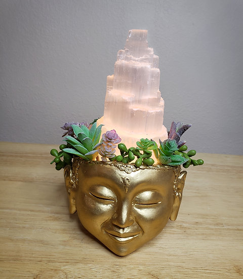 Selenite Temple Lamp