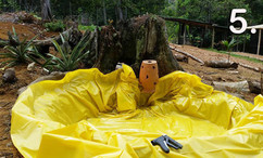 Adding the tarp
