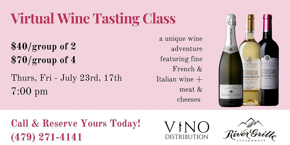 Virtual Wine Tasting Class w/ River Grille (1)