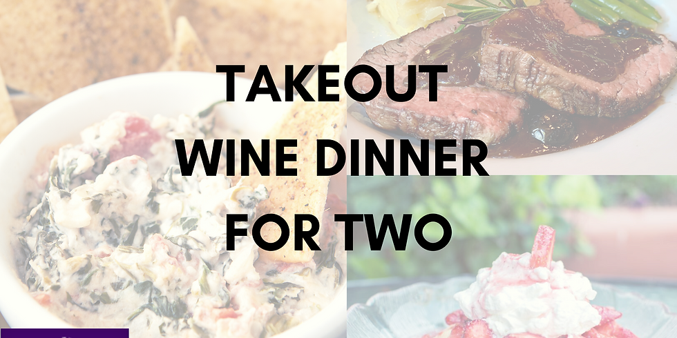 Takeout Wine Dinner for Two w/ Trio's+ FB Live Dinner