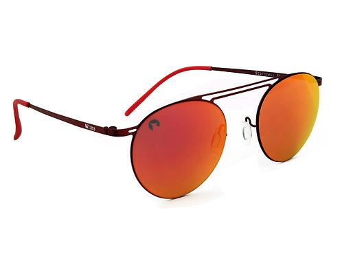 Gafas Acero Inoxidable Unisex Lente Reflector Rojo