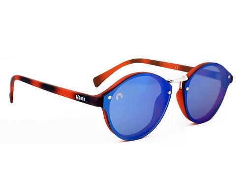 Gafas Unisex Lente Reflector Carey/Azul