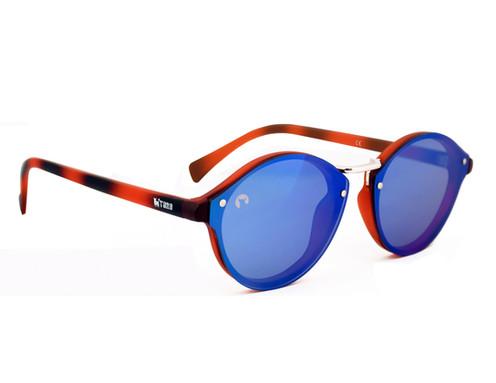 9a4621eb56 Gafas Unisex Lente Reflector Carey/Azul