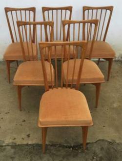 Six chaises esprit scandinave/50's