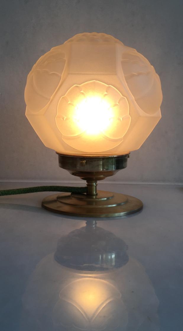 Lampe Pâquerette allumée/VENDUE