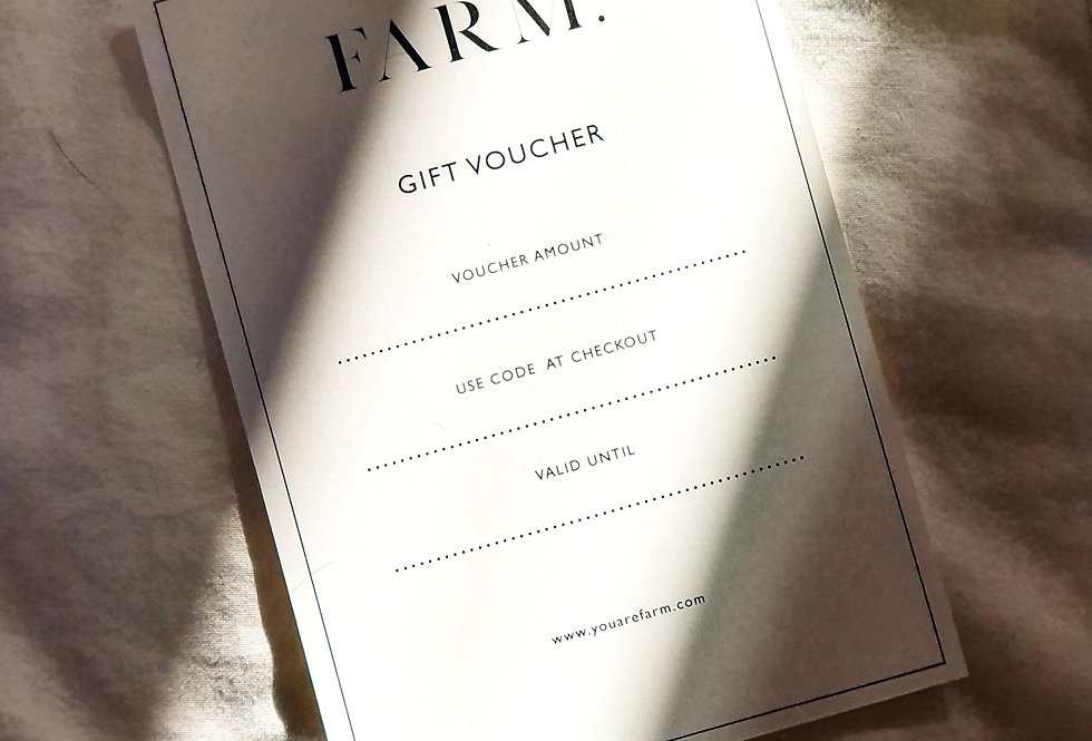 PHYISCAL GIFT VOUCHER FROM...