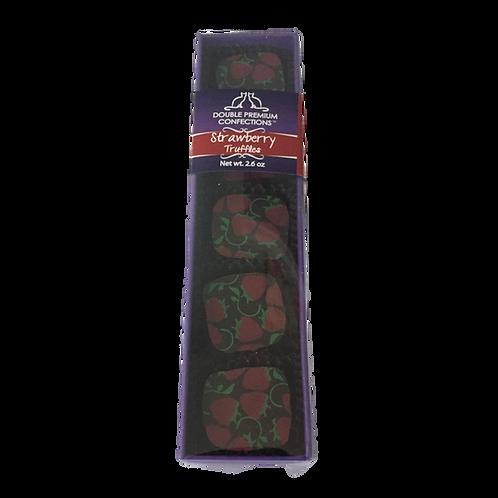 Strawberry Dark Chocolate Truffles, 5 piece sleeve