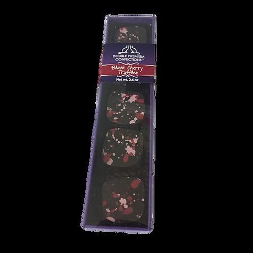 Black Cherry Dark Chocolate Truffles, 5 piece sleeve