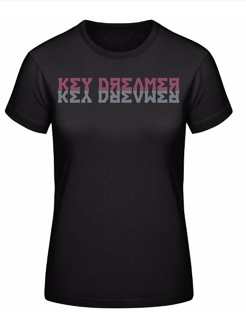 Ladies T-Shirt | Black + Mauve-Grey