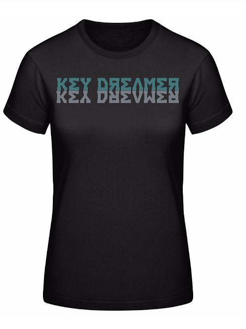 Ladies T-Shirt | Black + Aquamarine-Grey