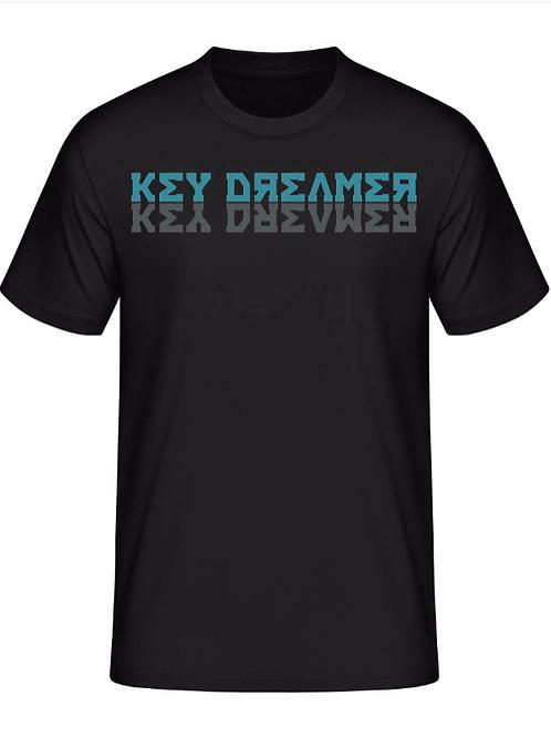 T-Shirt | Black + Turquoise-Grey
