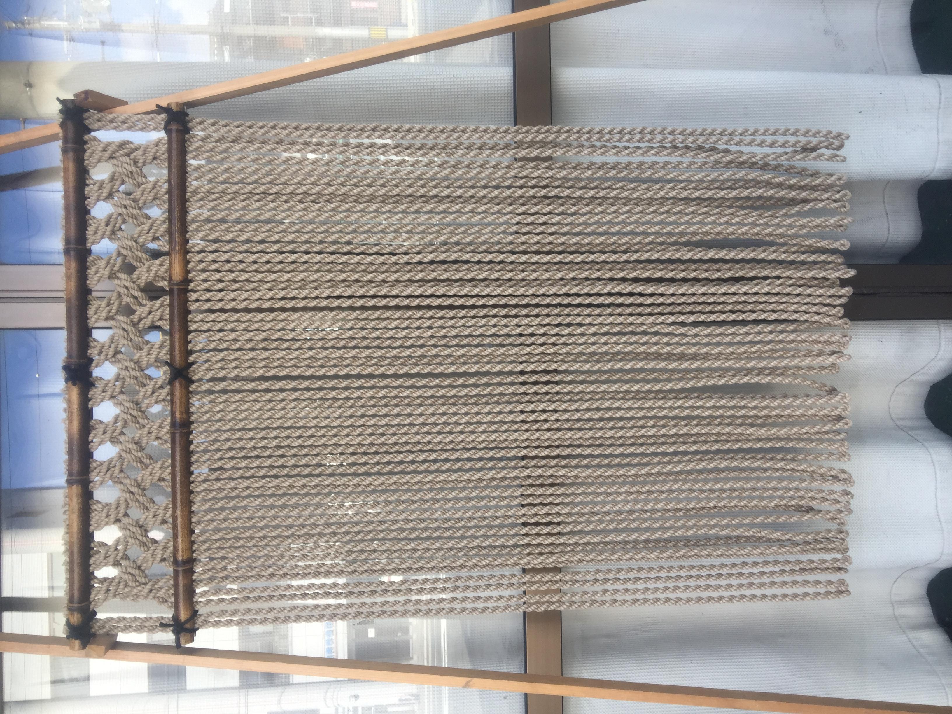 ジュート麻縄のれん 格子編み