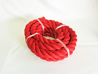 カラーロープ 綱引ロープ レッド