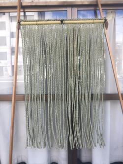 いぐさ縄のれん 格子編み