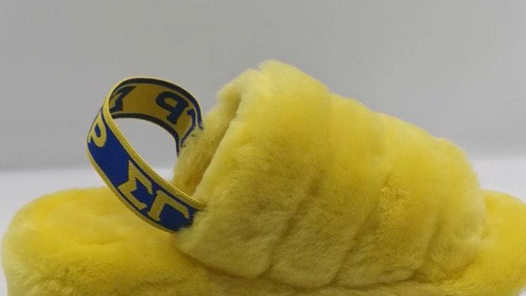 ΣΓΡ Yellow/Blue Slippers