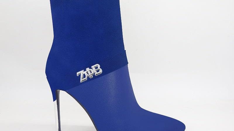ΖΦΒ Blue Suede/Genuine Leather 4in Boots