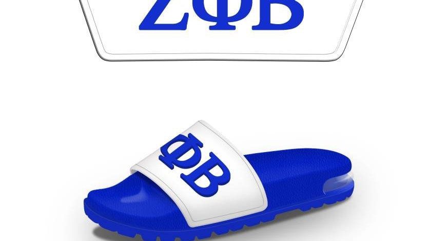 Zeta Blue/White  3-D slides -Ships in 45 days