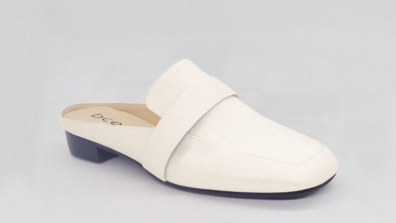 Cream Genuine Leather Flats