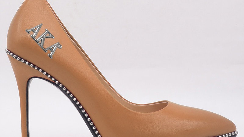 AKA Cappuccino Genuine Leather heels