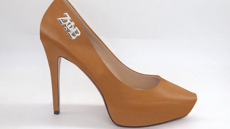 ΖΦΒ Cappuccino Genuine Leather Platform 4in Heel with Silver buckle