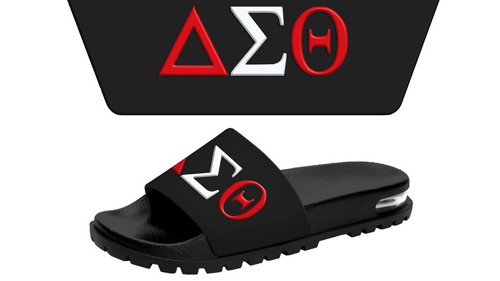 DST 3-D Black/white/red slides -Ships in 45 days