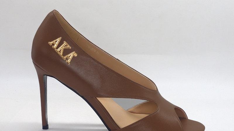 AKA Mocha Genuine Leather 4in heels