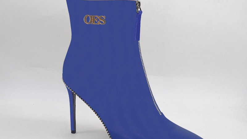 OES Blue Genuine Leather 4in Boots