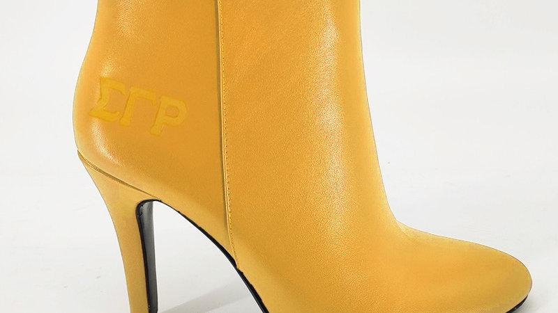 ΣΓΡ  Genuine Leather Debossed Boots