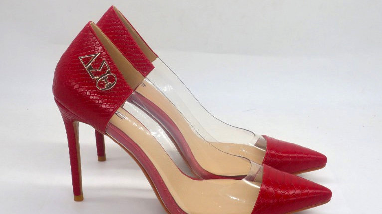 ΔΣΘ Faux Snake Skin Heels heels