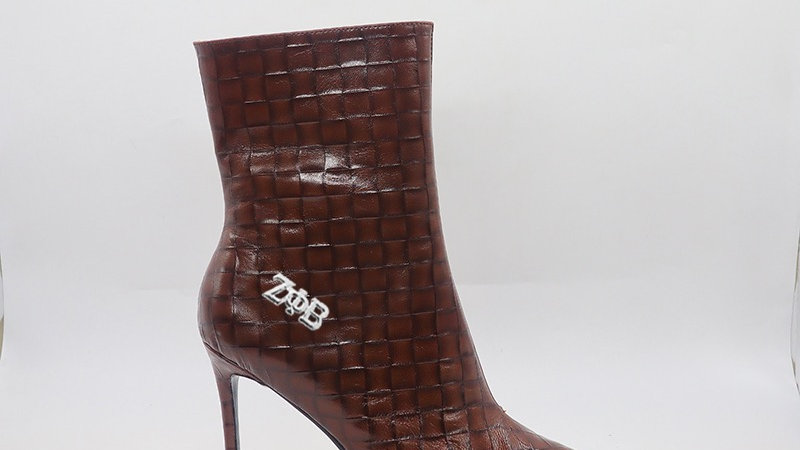 ΖΦΒ Brown Genuine  Leather 4in Boots