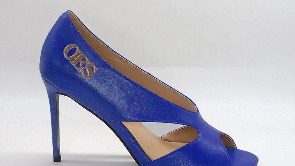 OES Blue Genuine Leather 4in heels