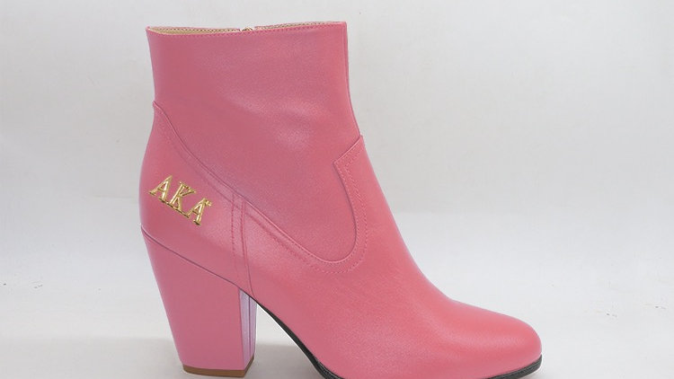 AKA Pink Genuine Leather Boots