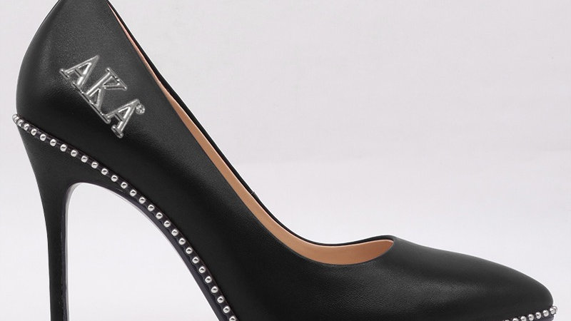 AKA Black Genuine Leather heels