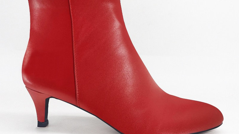 Red Genuine Leather Boots