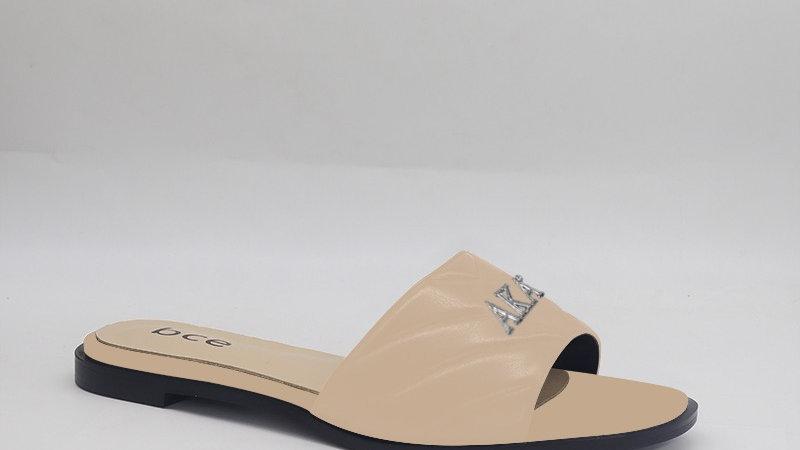 AKA Beige Genuine Leather Sandals