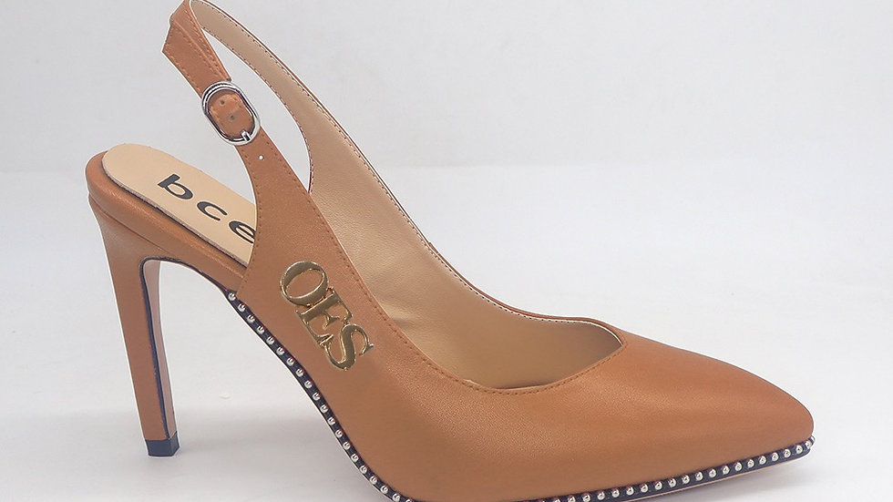 OES Cappuccino Genuine Leather Heels
