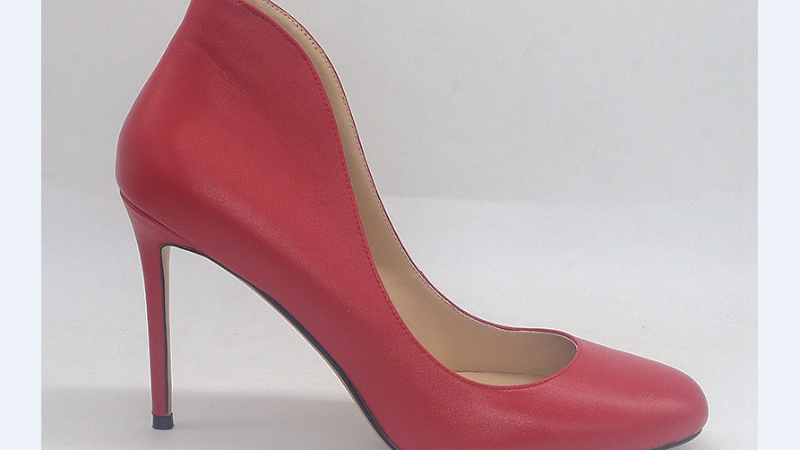 Red Genuine Leather heels