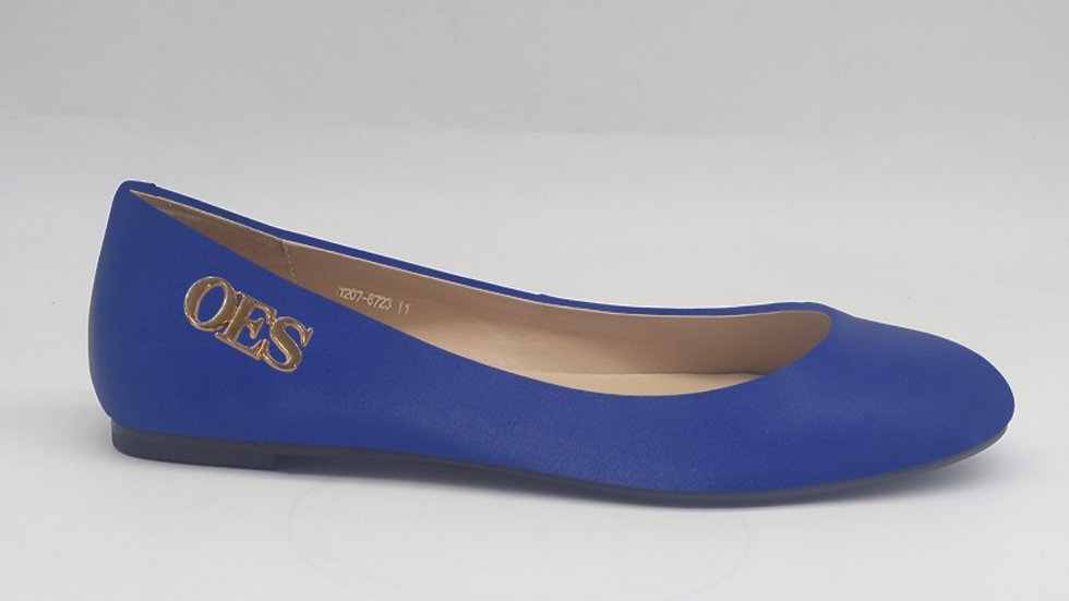 OES Blue Genuine Leather flats