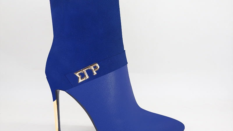 ΣΓΡ Blue Suede/Genuine Leather 4in Boots