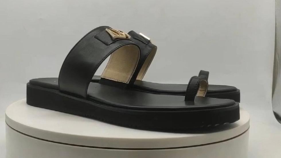 ΔΣΘ genuine leather sandals