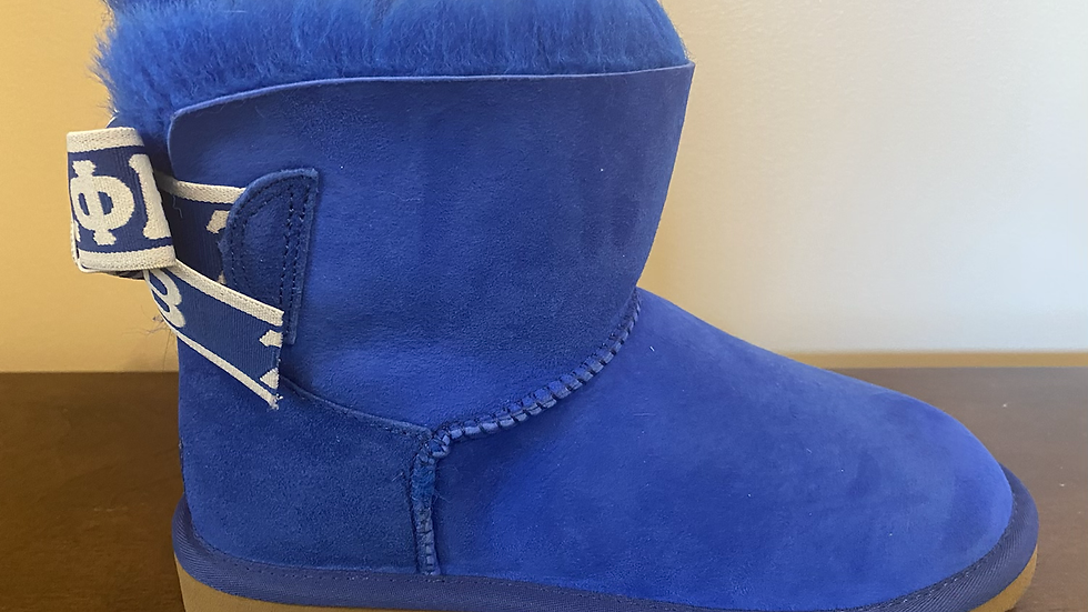 ΖΦΒ  Short Sheep Wool Boots w/ 1 ribbon SHIPS IN 45 DAYS