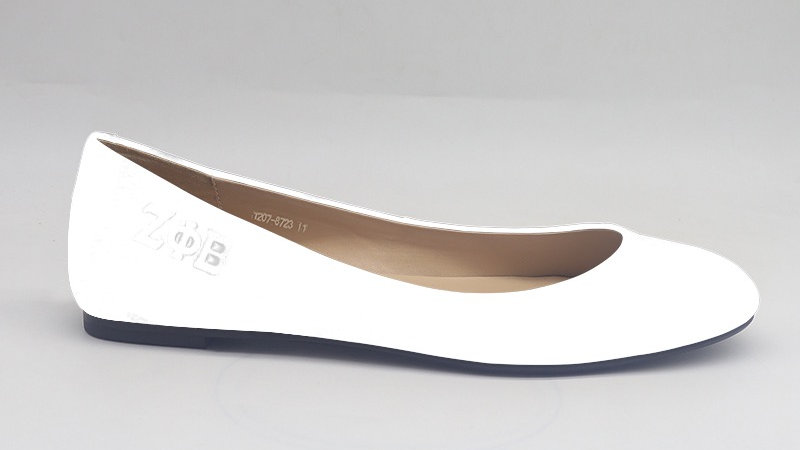 ΖΦΒ white genuine leather flats
