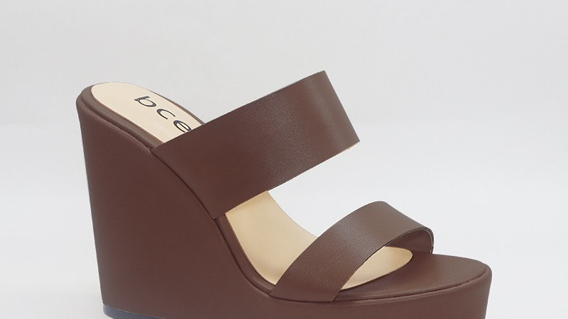 Mocha Genuine Leather 5in Wedges