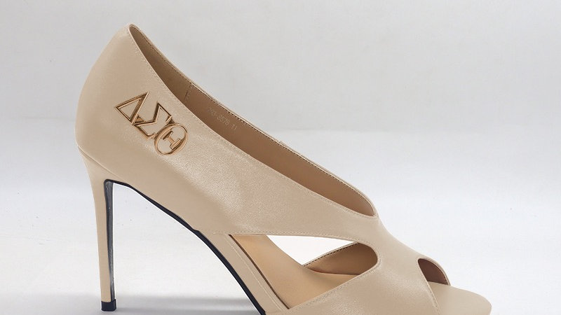 ΔΣΘ  Beige Genuine Leather 4in heels