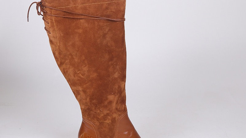 ΔΣΘ Genuine  Leather/Suede Boots