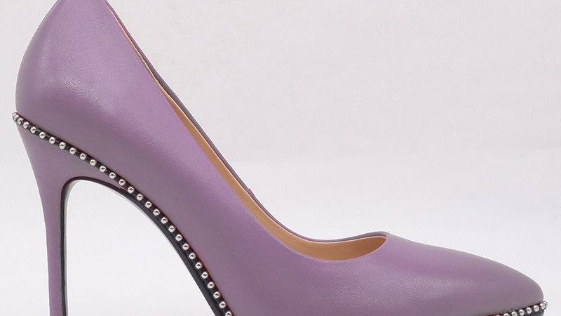 Lavender Genuine Leather Heels