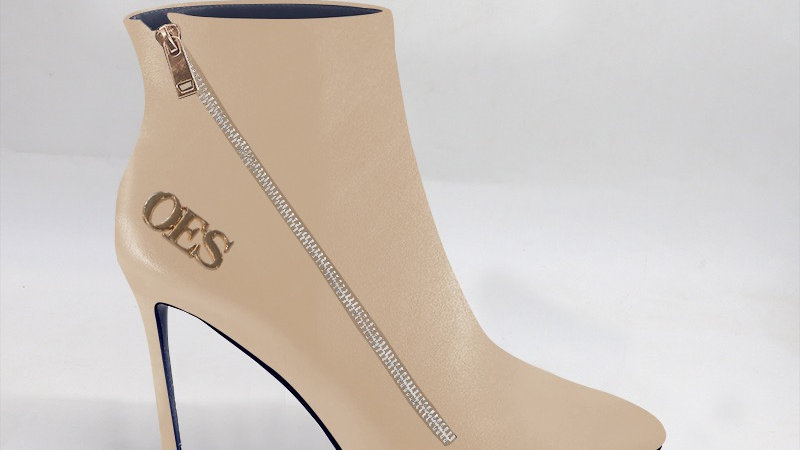 OES Beige Genuine Leather 4in Boots