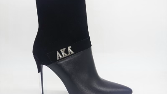 AKA Black Suede/Genuine Leather 4in Boots