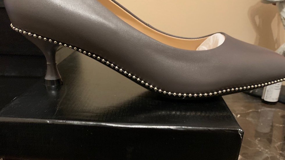 Non-greek Genuine Leather 2in heels (Size 9)