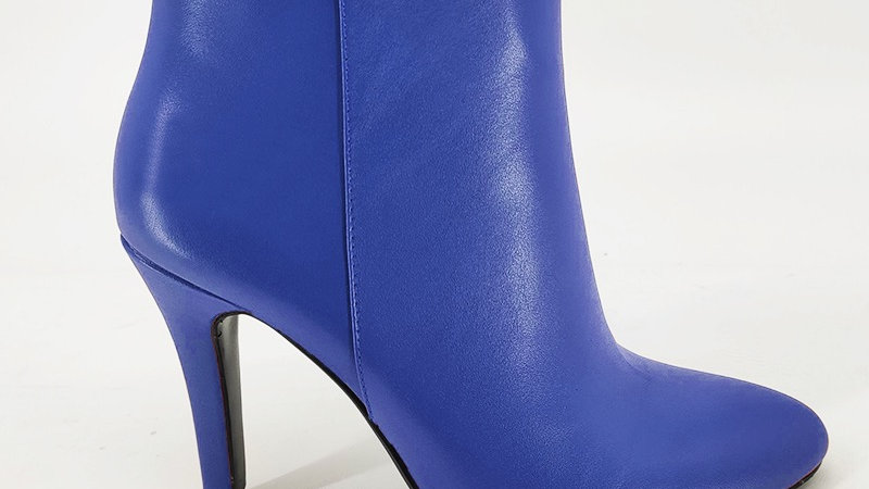 Blue Genuine Leather Boots
